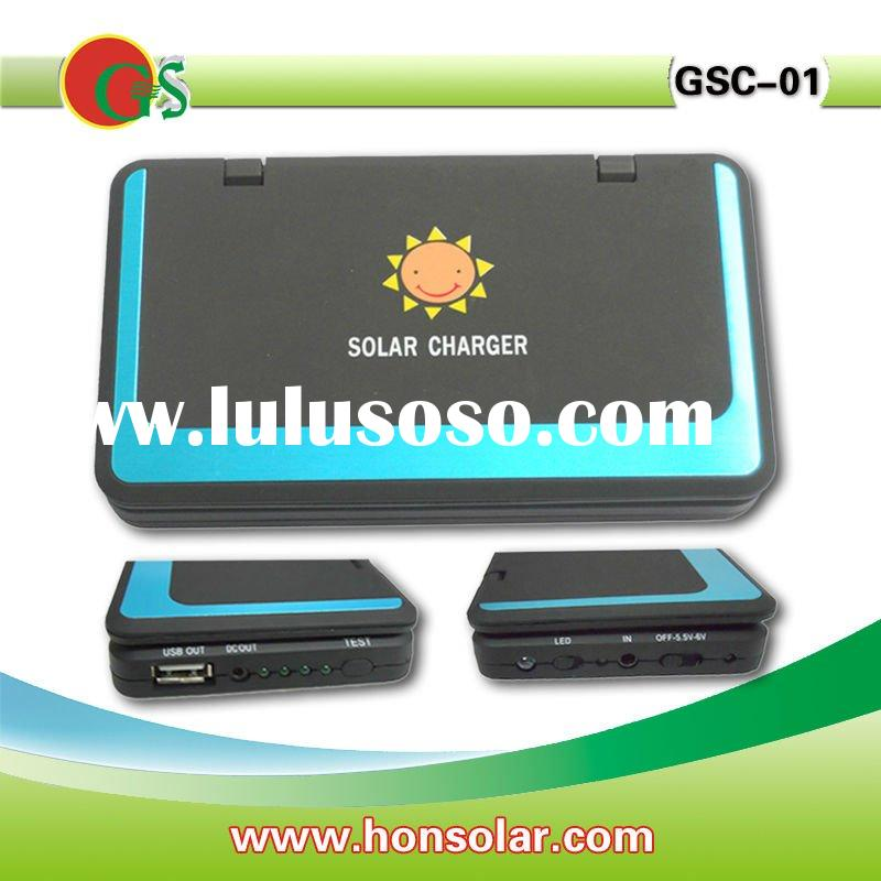 2W Solar cell phone charger with 2600mah battery,