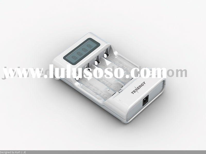 4 cell AA/AAA battery fast charger with LCD display
