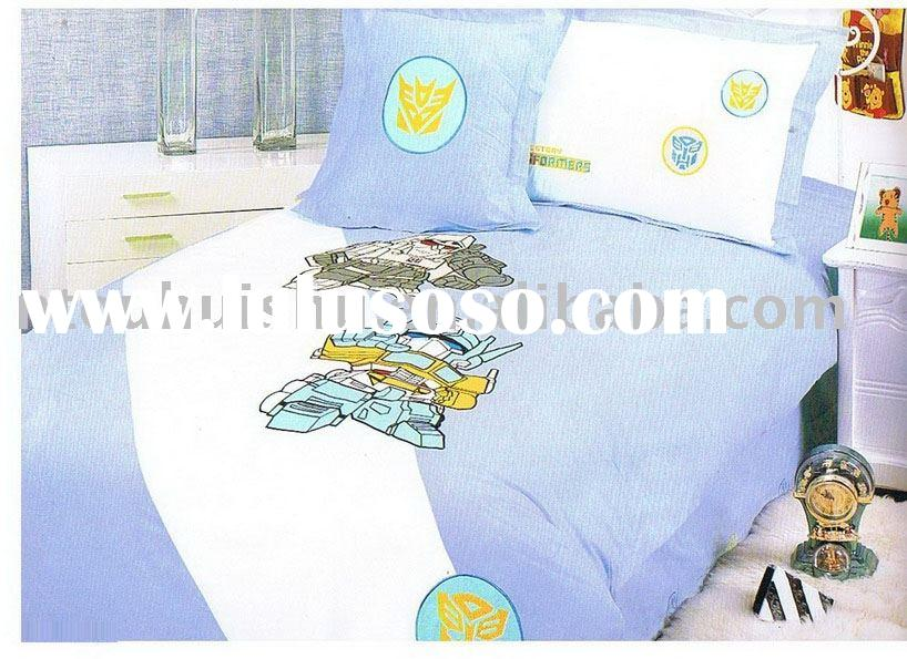 4pcs Kids Cartoon Bedding Set,cartoon bedding set,embroidered bedding set