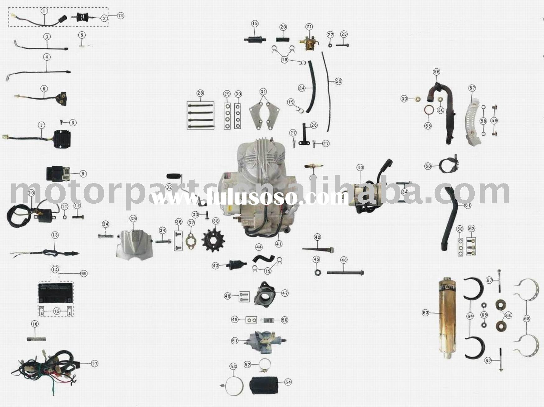Repair And Service Manuals together with Dune Buggy Ignition Switch Wiring together with Hi Bird 250cc Atv Parts besides Cougar 110cc Atv Parts in addition Dazon 150 Engine Diagram. on 250cc chinese atv wiring diagram
