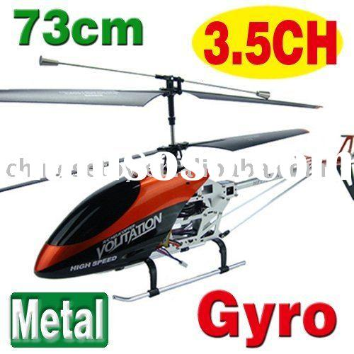 Hot sale!! 73cm Metal 3.5CH RC Radio Control R/C Helicopter Remote Control Plane Toy with gyro ZY898