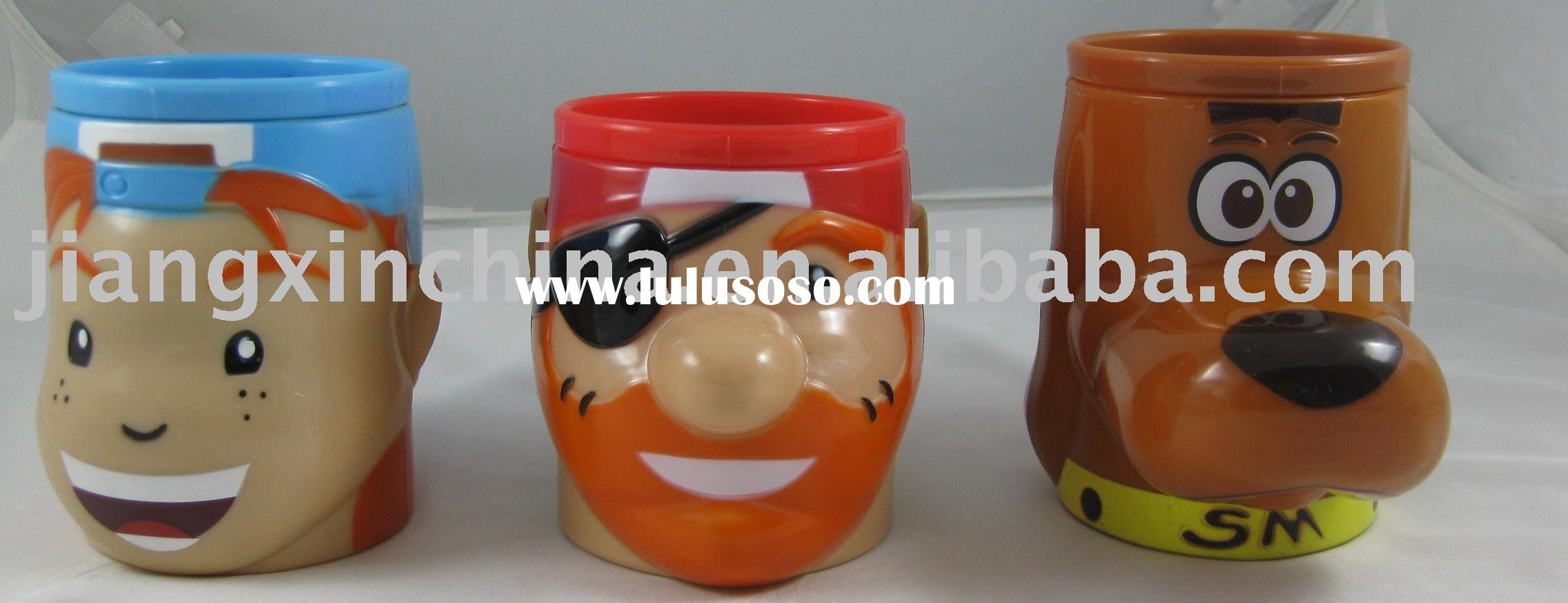 Plastic PP cartoon designed mugs and cups