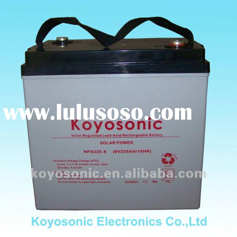 Reliable Gel Deep Cycle 6V Solar battery-225AH