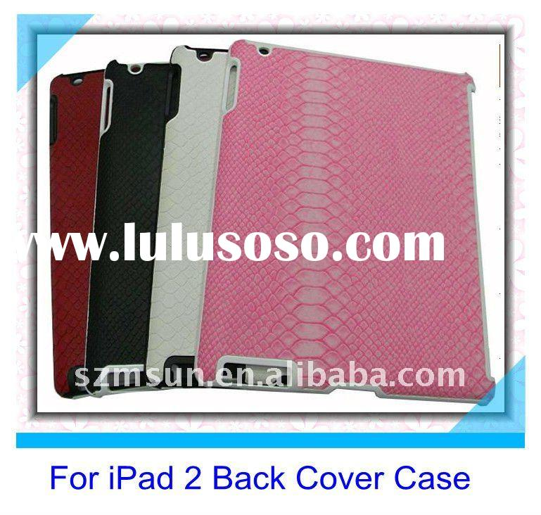Snake Skin Design Fitting Smart Back Cover Case for iPad2 Case