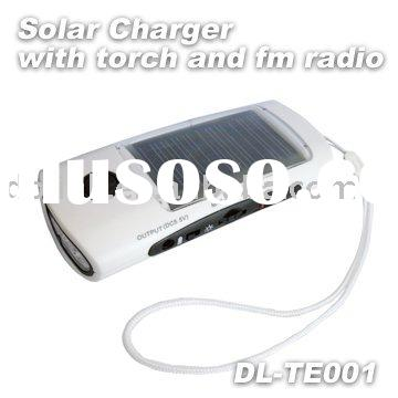 Solar charger with Mobile phone charger and FM Radio