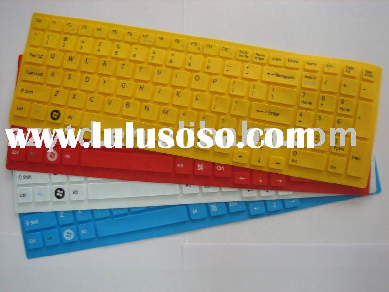 colored silicone laptop keyboard cover