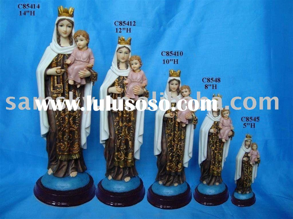 polyresin religious statues (Our Lady of Mt Carmel)