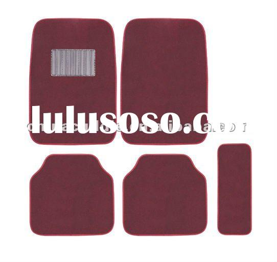 red carpet car floor mat
