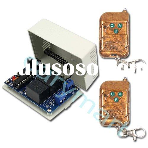 2 Channels RF Wireless Remote Control System / Radio Switch - Transmitter & Receiver - For DC 9V