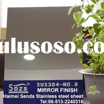 304 super Mirror Finish (no.8) Stainless Steel Sheet