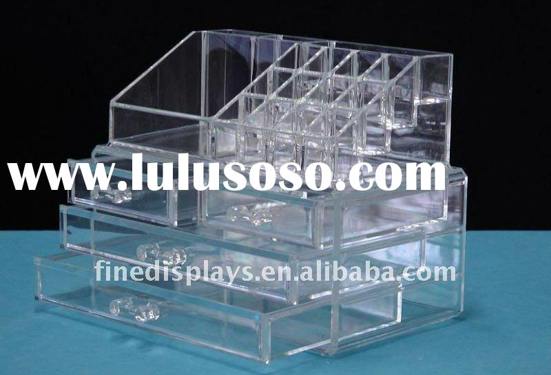 ... Plastic Cosmetic Storage Box Acrylic 4 Drawer Clear Makeup Organizer Cd  A 0159 ... Part 55