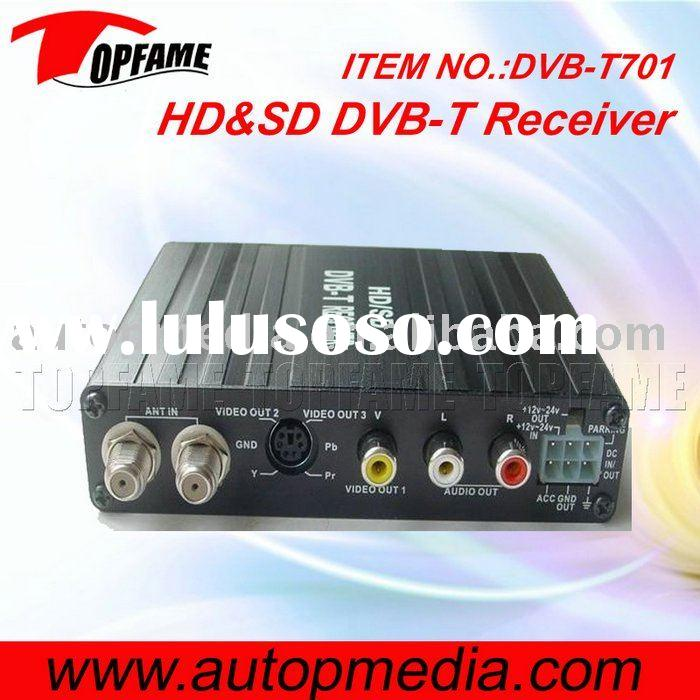 Car HD&SD DVB-T receiver box with dual antenna