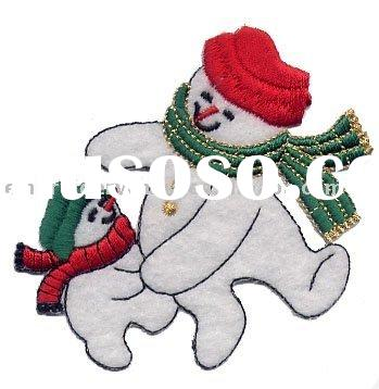 Christmas decoration snowman embroidery patch clothing accessories