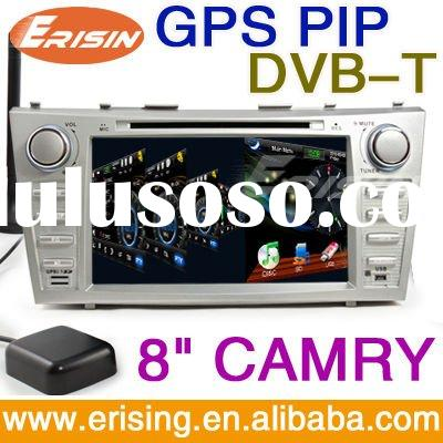 "Erisin 8"" HD Car Multimedia DVB-T GPS 3D Rotating USB SD for TOYOTA CAMRY"