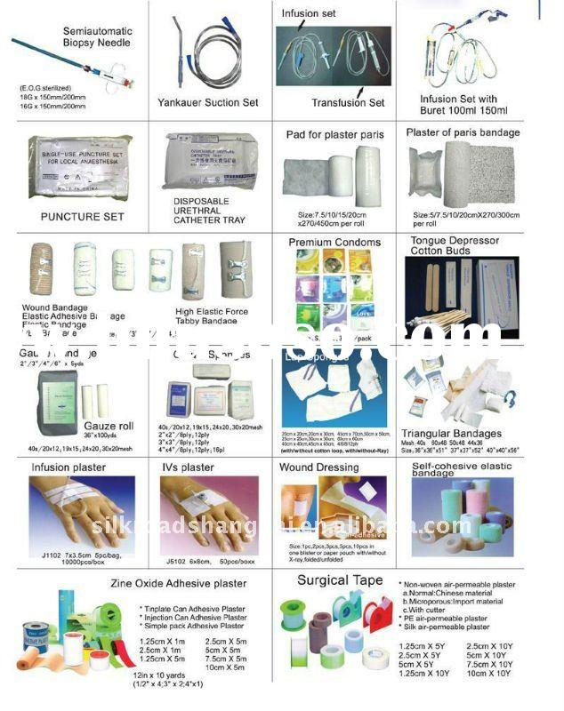 Medical supplies, disposable hospital product