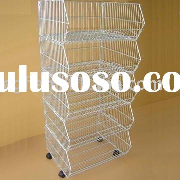 Metal Stacking Bin / Stacking Basket / Stacking Shelf