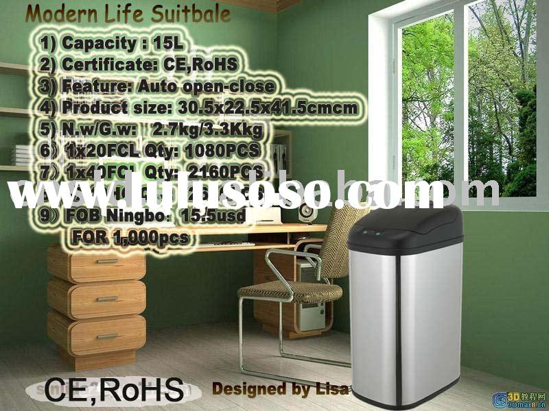 Metal trash can container waste paper bin metal trash can container