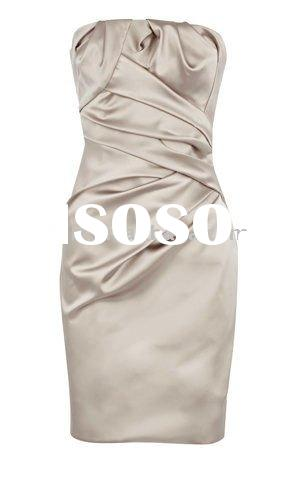 New style strapless office lady dress dl229 free shipping