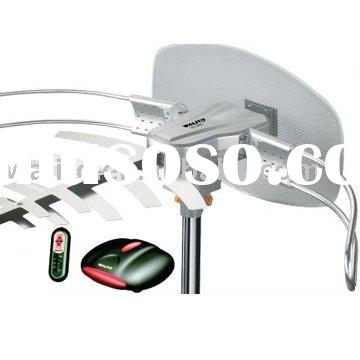 Outdoor TV antenna with remote control