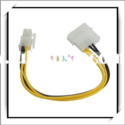 P4 12V 4 Pin ATX Power Supply Adapter Connector Cable