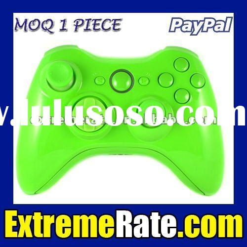 Polished Green Controller Shell For Xbox 360 Housing with Full Green Inserts and Buttons