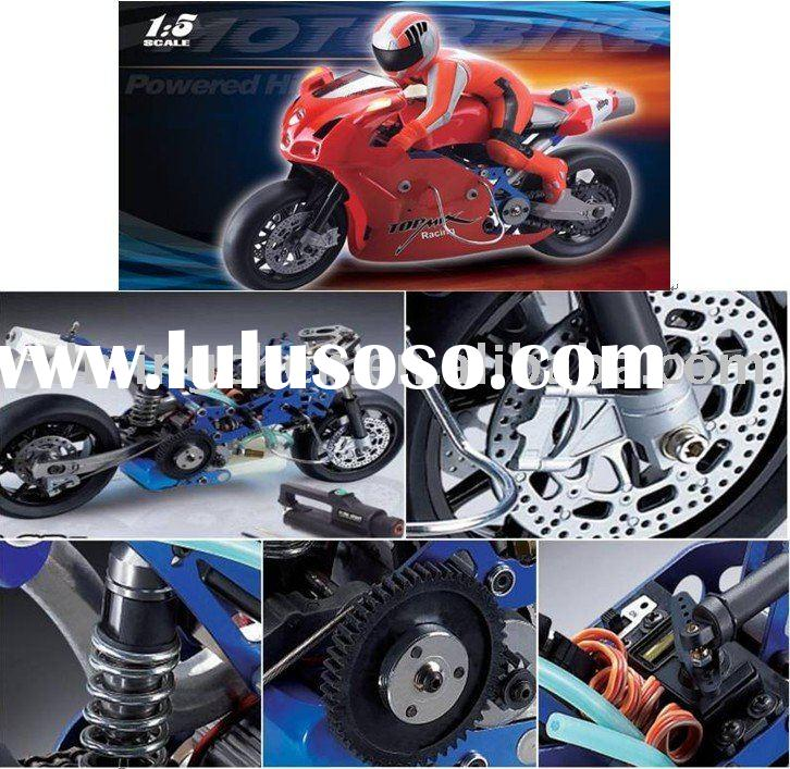 Remote control nitro gas power motorcycle