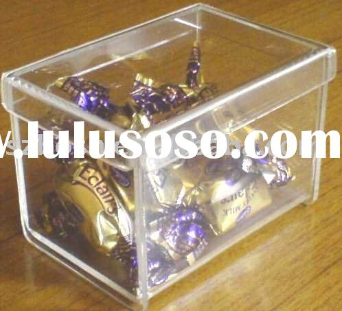 Square Acrylic Candy Box with a Lid