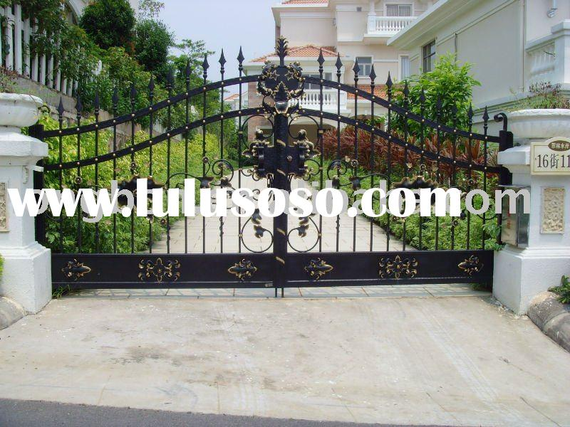 Top-selling modern wrought iron gate grill design for home,park,garden