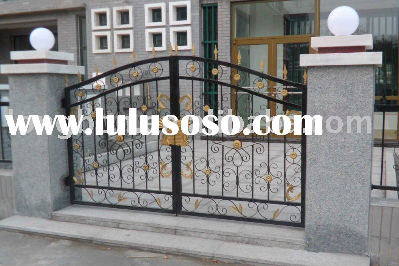 Top-selling wrought iron gate grill design for home,park,garden