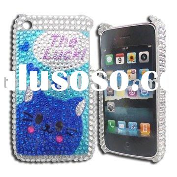 Twinkling Lucky Cat Style Case Cover for iPhone 3G & 3GS
