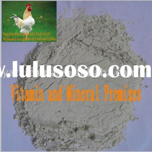 Vitamin and mineral premix for poultry feed