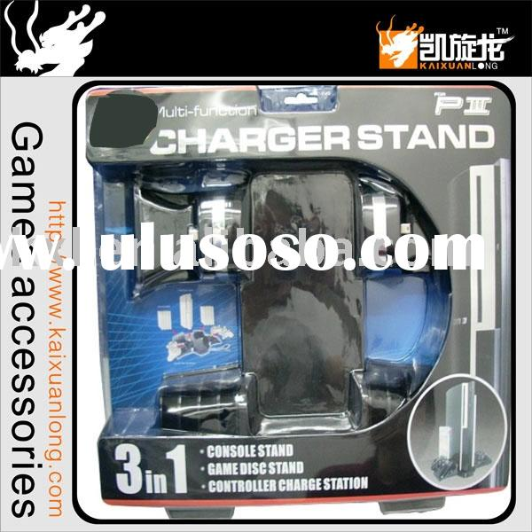 for PS3 3in1 Game Pack--for ps3 console stand, game disc case and controller charger stand