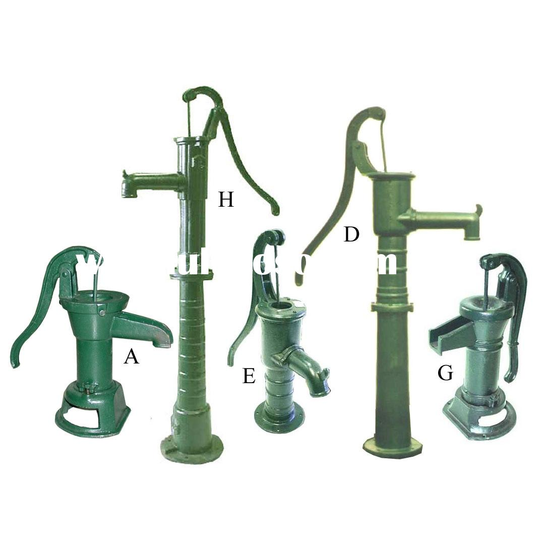 Well water pump hand pump cast iron well water pump hand for Garden water pump