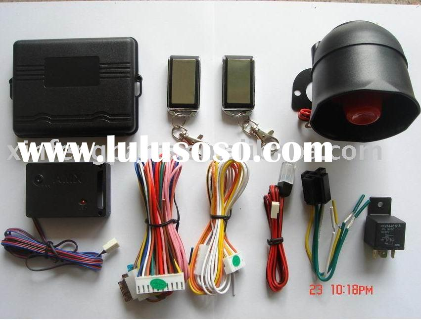 one way auto alarm vehicle car mobile spare parts accessories security system remote control