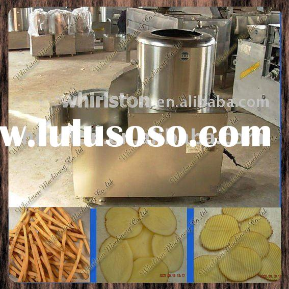 potato crisp machine/potato chips peeler/potato chiping cutting machine0086-13633868141