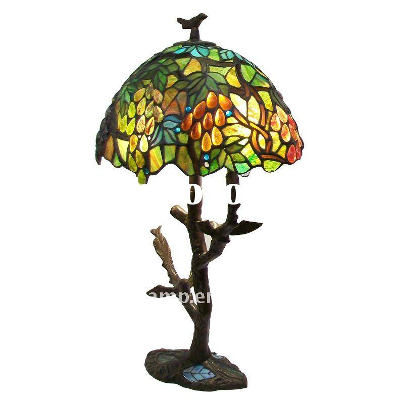 Desk Lamp Shades on Stained Glass Lamp Shade Tiffany Table Lamp
