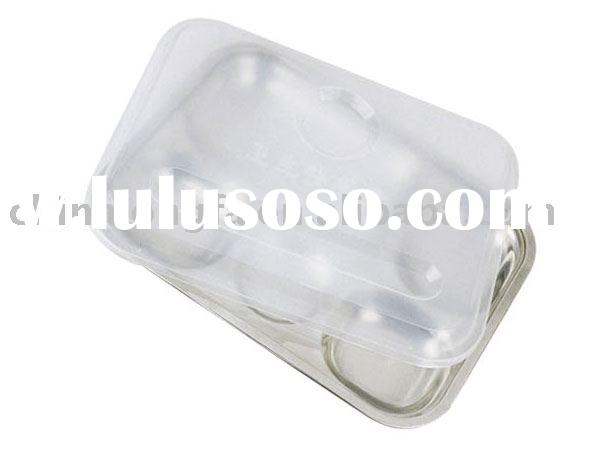 stainless steel fast food plate with cover