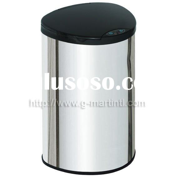stainless steel handsfree kitchen garbage bin,sensor trash can