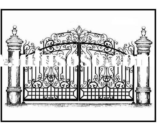 steel gates etn g002 steel gates cast iron gates custom entry gate 1 ...