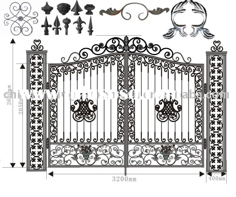 wrought iron fence, wrought iron parts,gate