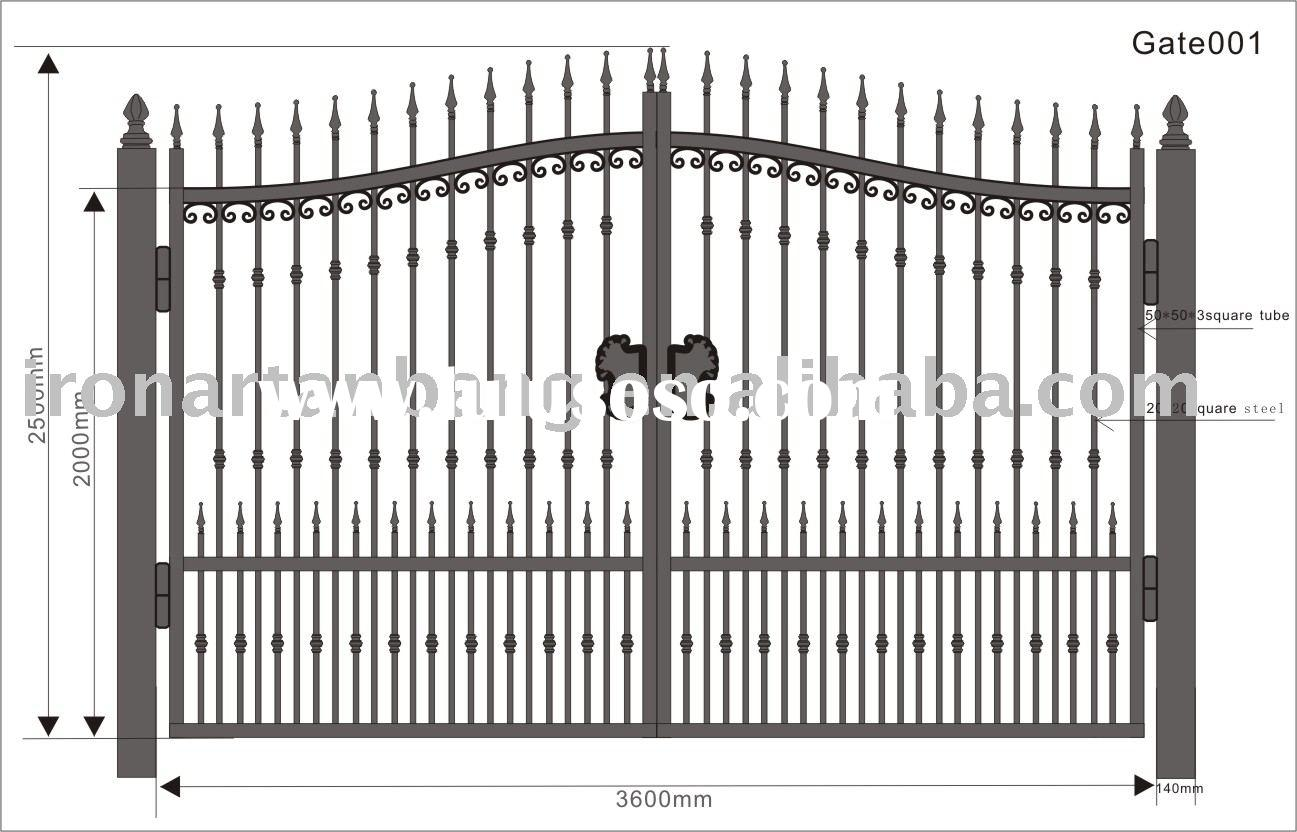 Wrought Iron Gate Steel Gate