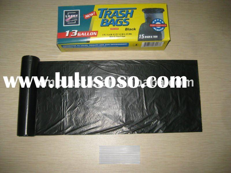 Plastic Garbage bag with colour box packaging