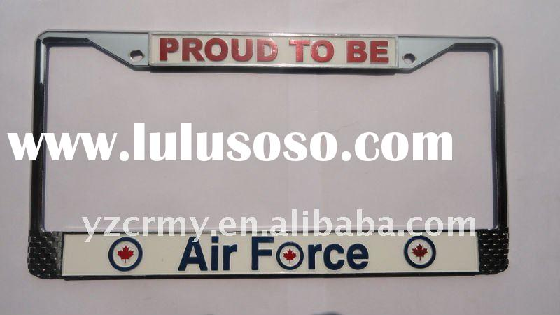 Air force metal custom license plate frames