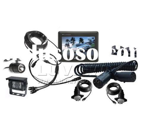 Backup System, Reverse Camera kit with Night Vision Camera and License Plate Camera for Trailer