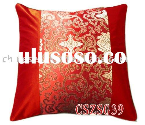 Chinese calssical pillow case, brocade pillow case, jacquard pattern