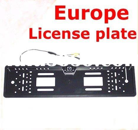 Factory selling Waterproof Europe License plate frame car camera