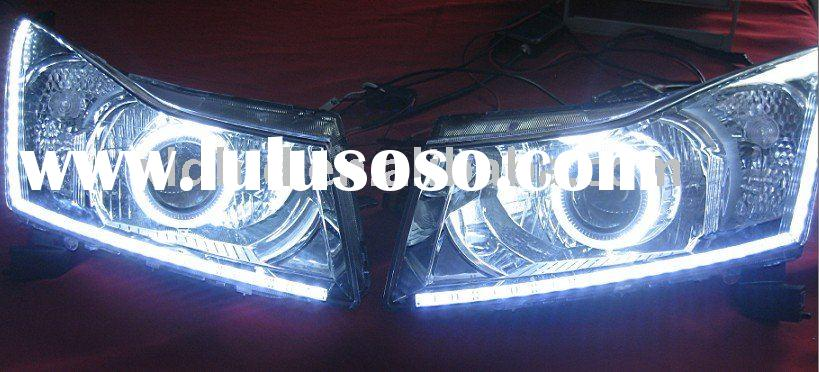 Hot Chevrolet Cruze headlight assembly with angel eyes and LED lights