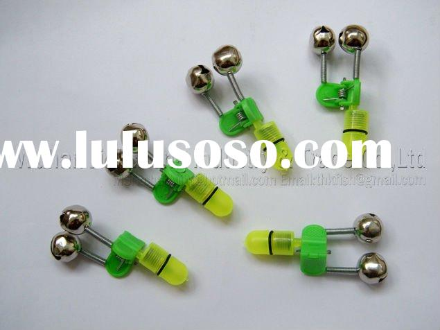 LED Twin Rod Bell Fishing Tackle Green Tip Lights Bait Alarm Fishing Alarm Wholesale Tips Bell
