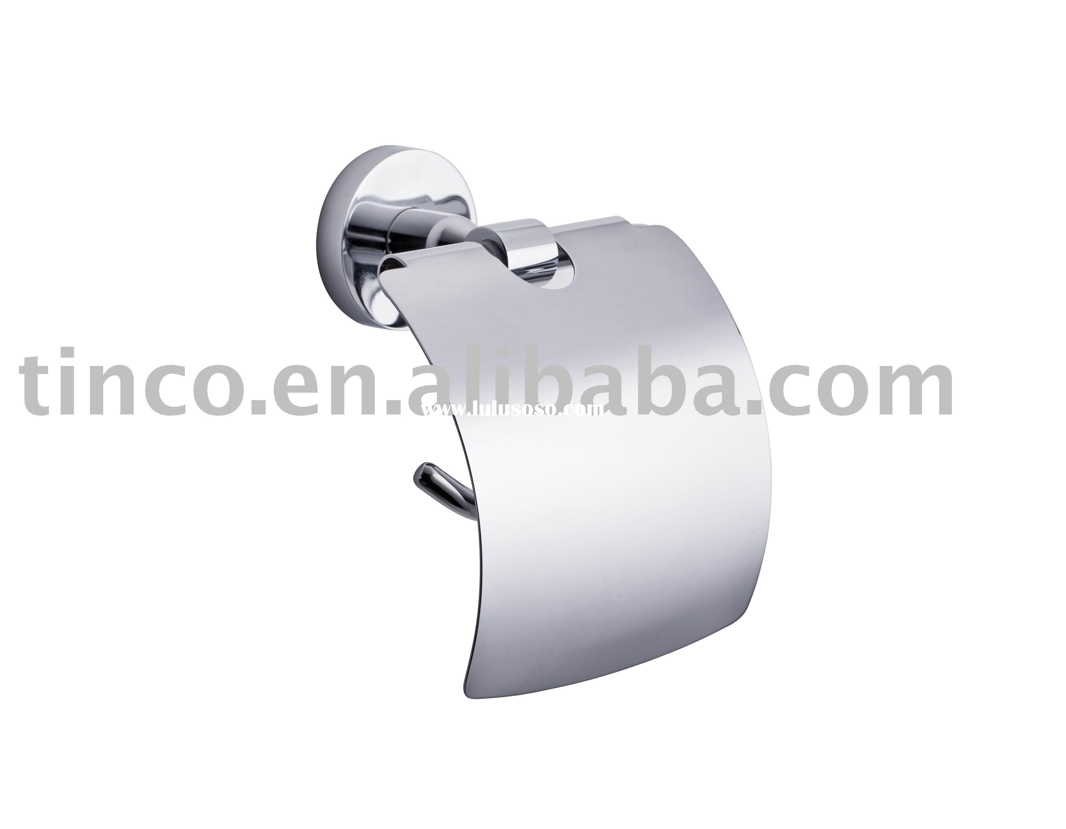 toilet tissue holder with cover/lid