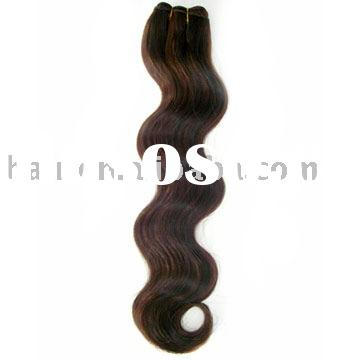 100%Human Hair M1B/30 22'' Body Weave Synthetic Fiber Weave 100%Remy Hair/European H